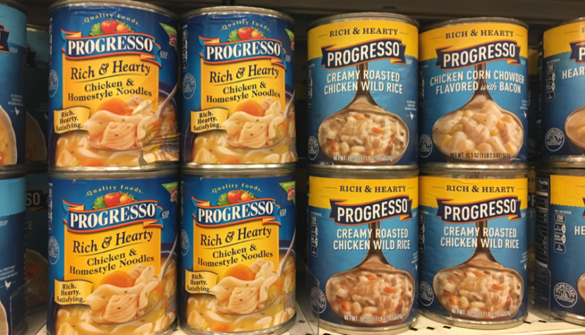 Featured photo: Progressos new packaging design: updated labels on the right, old labels on the left.