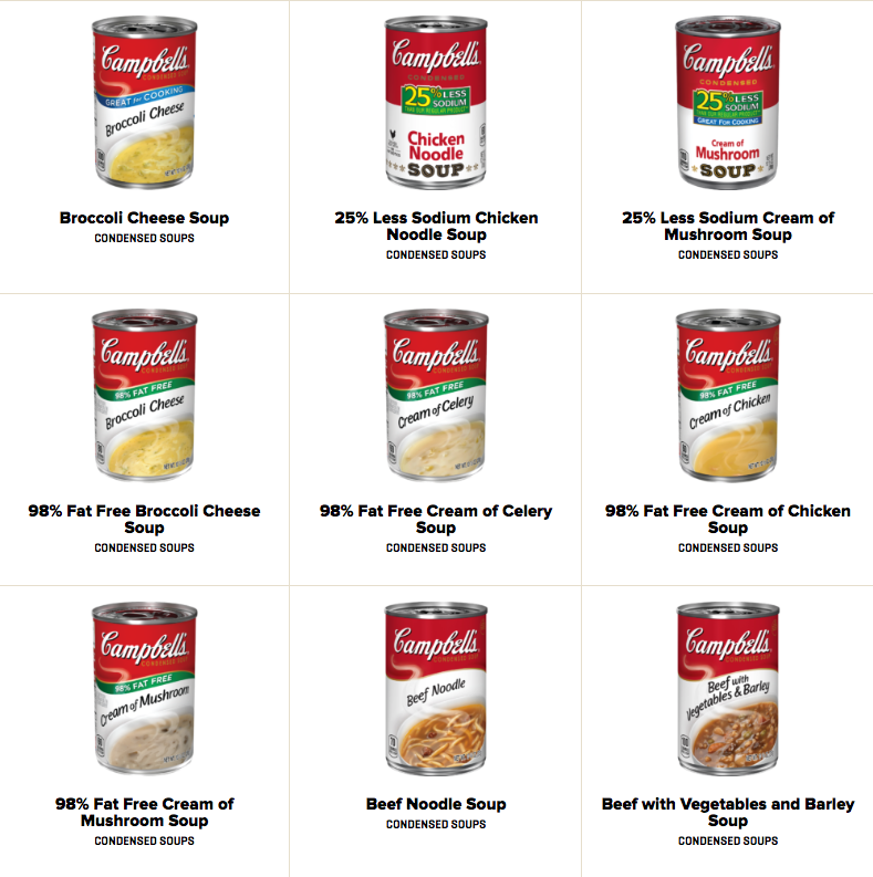 Campbell's soup product photography