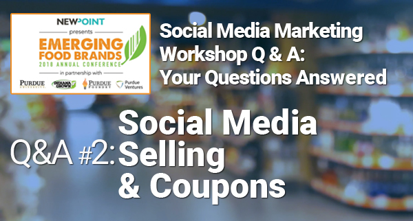 Social Media Selling & Coupons
