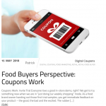 Food Buyers Perspective: Coupons work