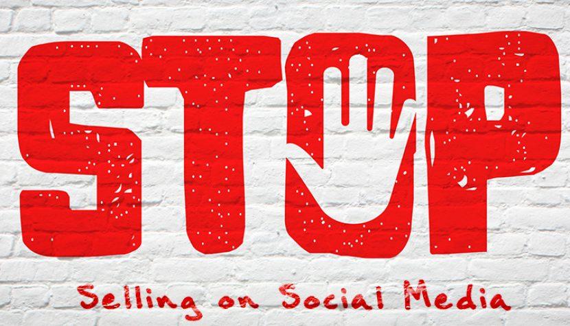stop selling on social media
