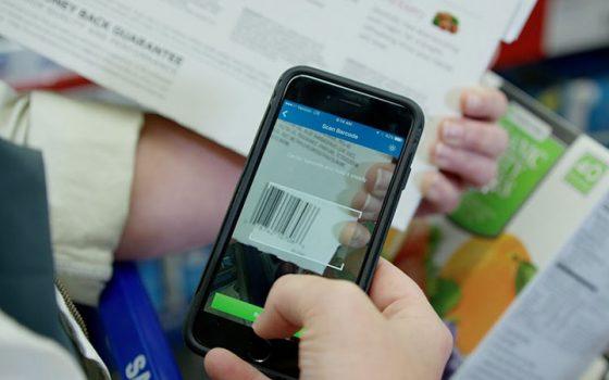 Scan & go technology via iPhone app