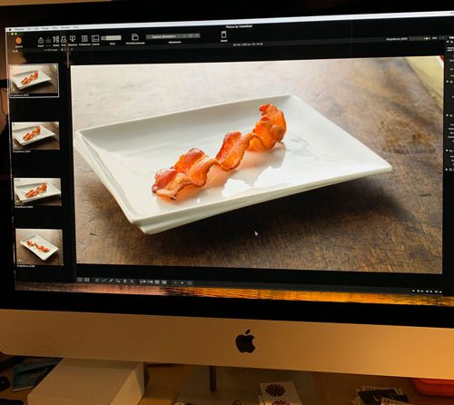 cpg photoshoot bacon